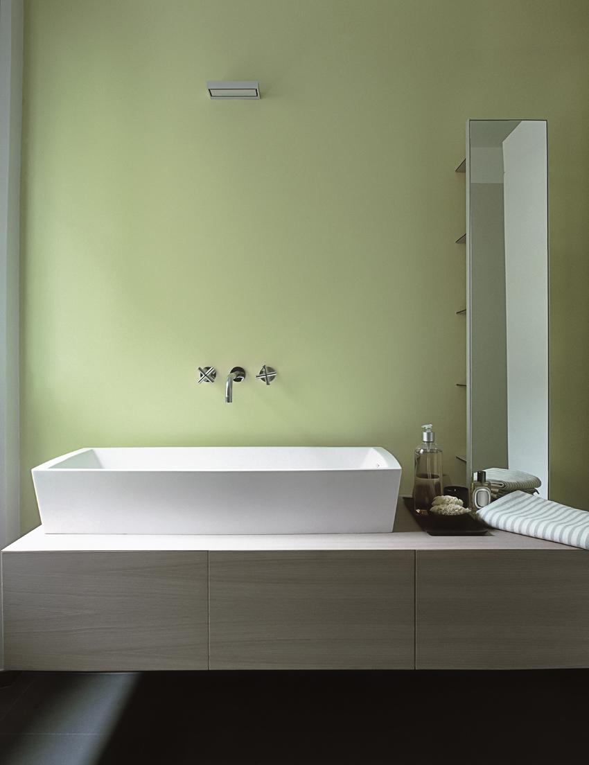 parete del bagno in resina verde Lumina