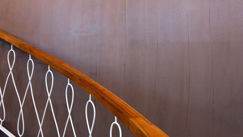 Resina per pareti per qusta scala moderna
