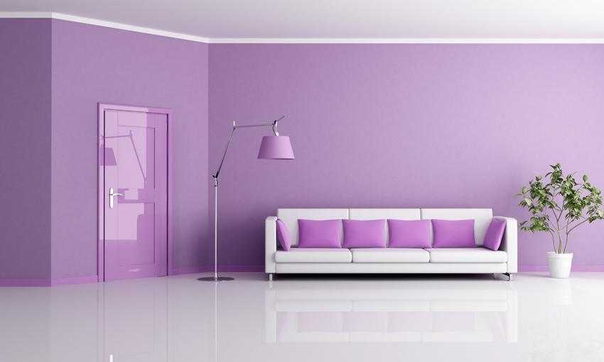Pareti Glitterate Lilla : Parete lilla con brillantini pareti viola e argento design casa
