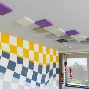 showroom parete e soffitto in resina