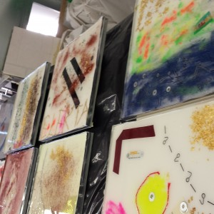 resin for walls used in an artistic way