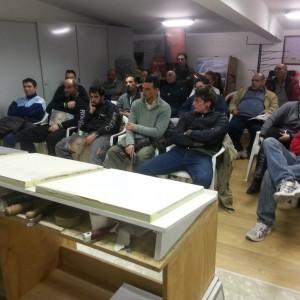 Demonstration of application Elekta's resins for walls