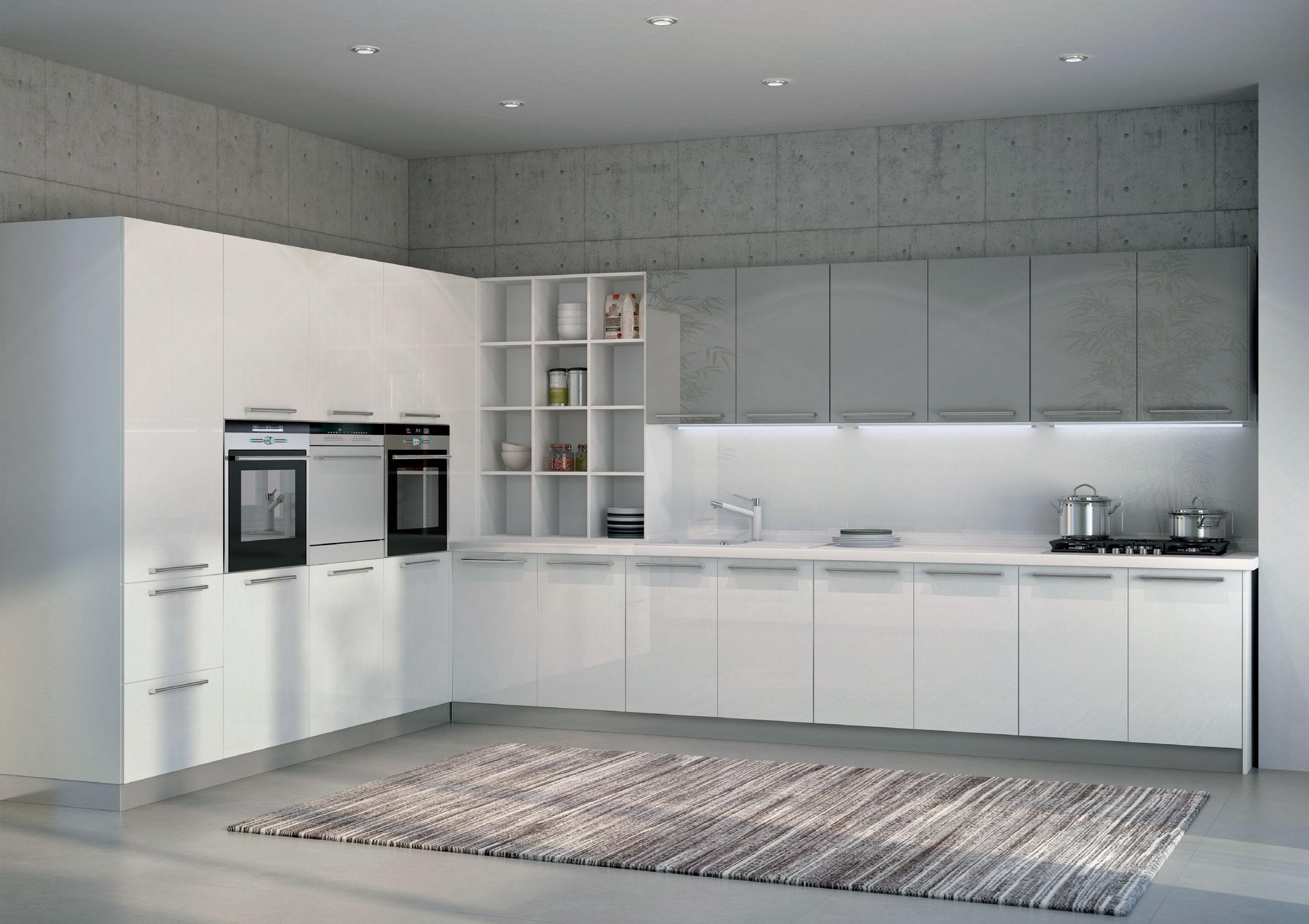 cucina, pareti e pavimento tutto in resina Elekta