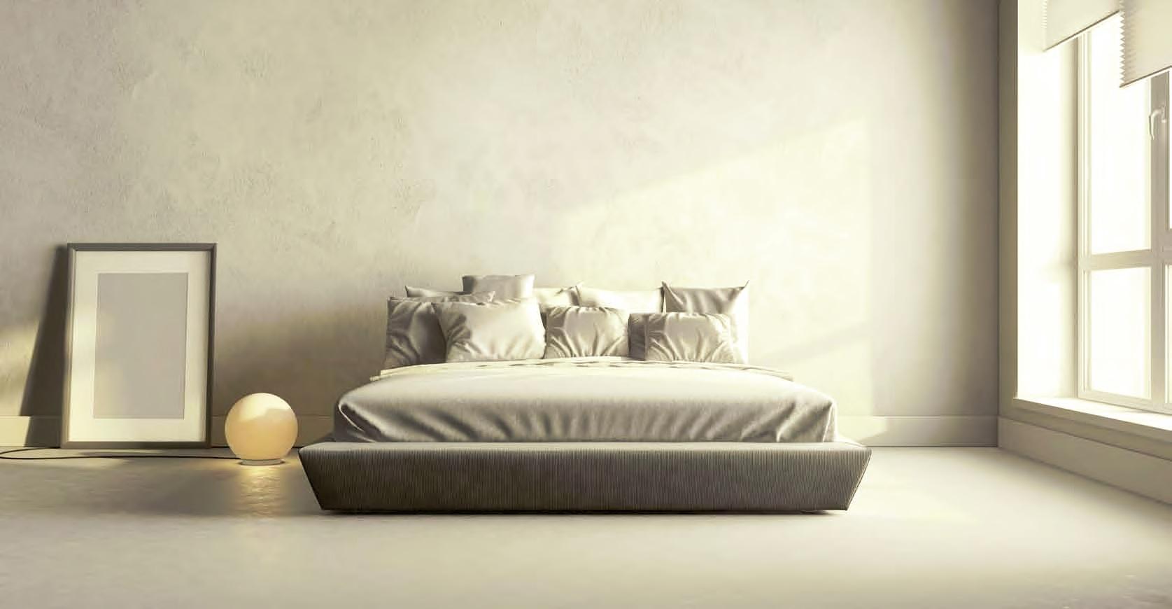 Pavimento e parete in resina per camera da letto Elekta Linea Resine