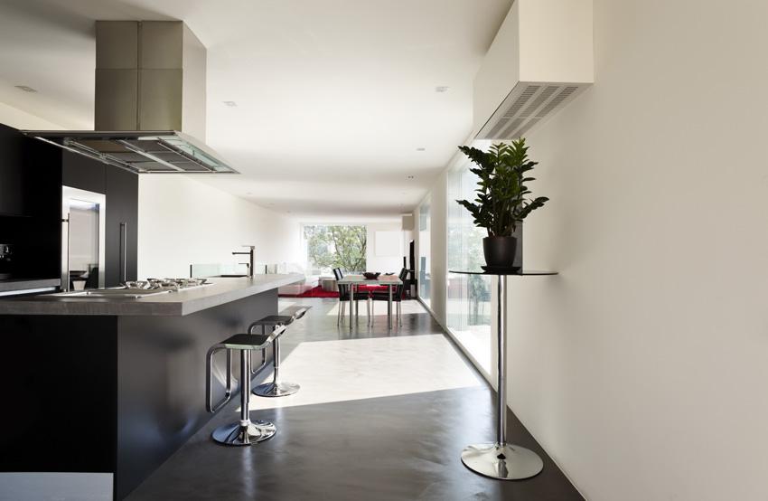 Pavimento della cucina in resina