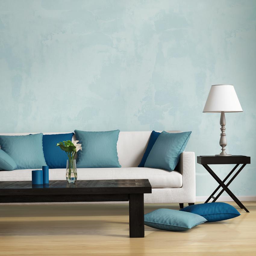 Parete del soggiorno in resina multi color, colori freschi che non stancano