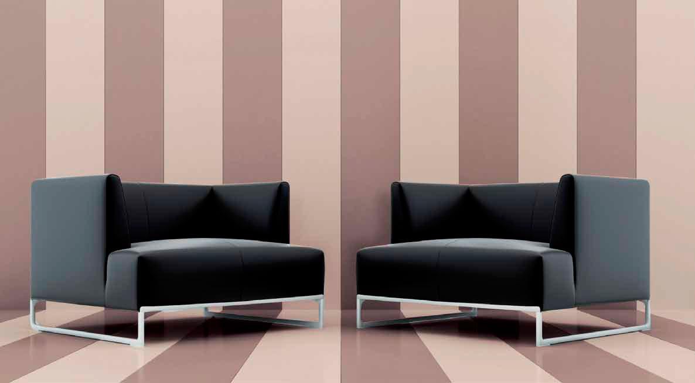 effetto rigato reso con la doppia colorazione di questa resina adatta sia a pareti che pavimenti