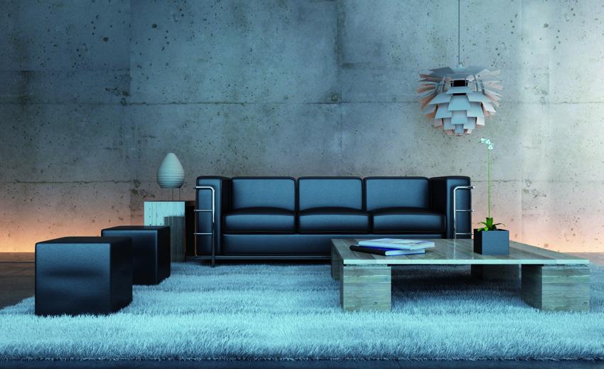 Parete in resina concrete design, simula effetto cemento