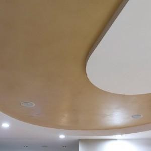 soffitto in resina con effetto bicolor