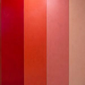 pareti in resina di colori differenti