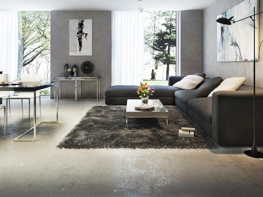 Resina Concrete Design per creare effetti tipo cemento su pareti e pavimenti