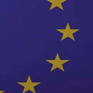 stelle su campo blu come la bandiera europea realizzata in resina