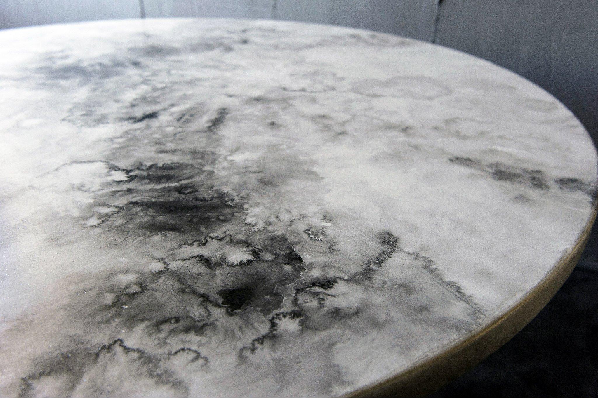 ripiano tavolo in resina effetto marmo