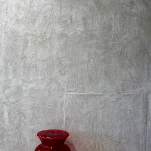 parete in resina con effetto ricercato e particolare