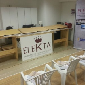 Demonstration of application Elekta's resins for walls and floors